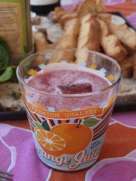 smoothie pastèque menthe + Grand Mrnier