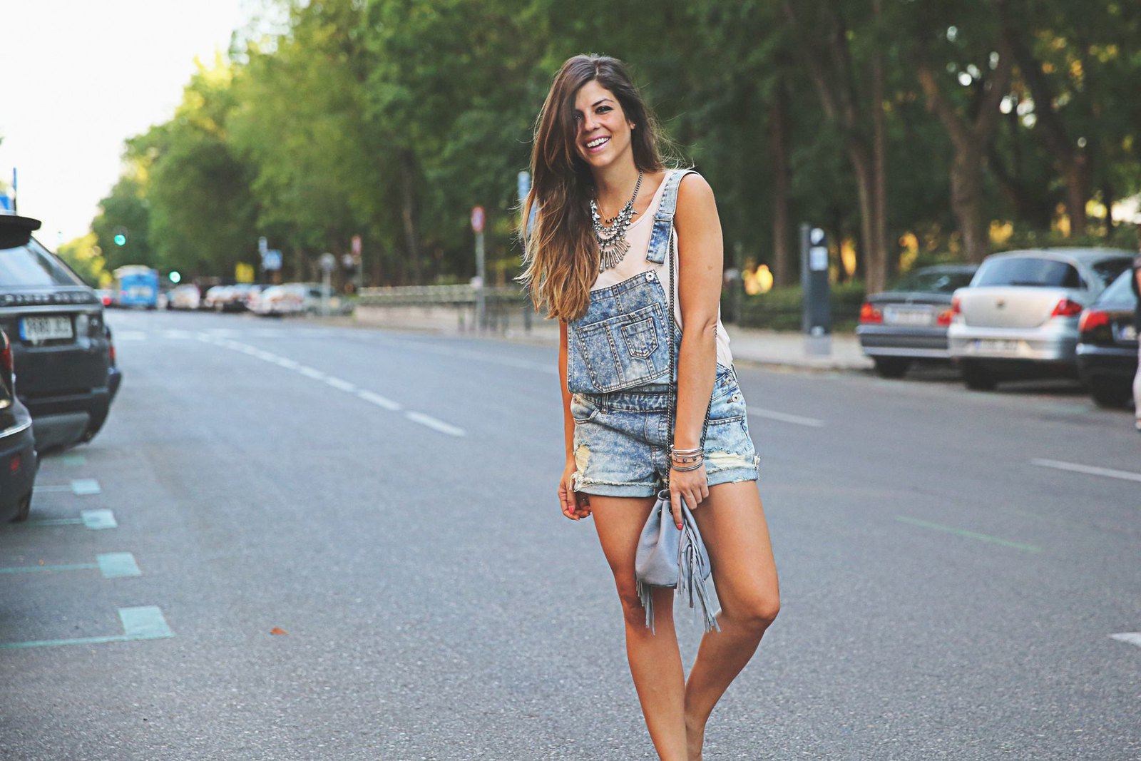 Denim Overall Outfit