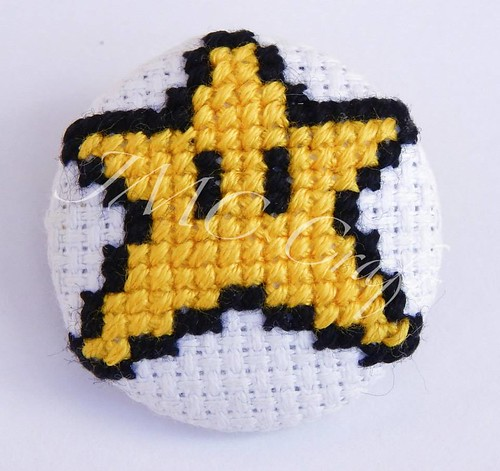 Geeky gaming cross-stitch by JMC Craft - Super Mario Star