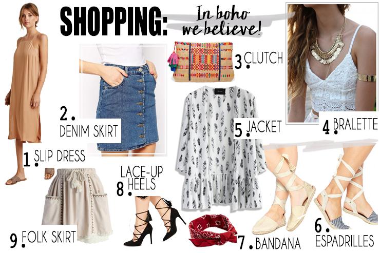 boho shopping
