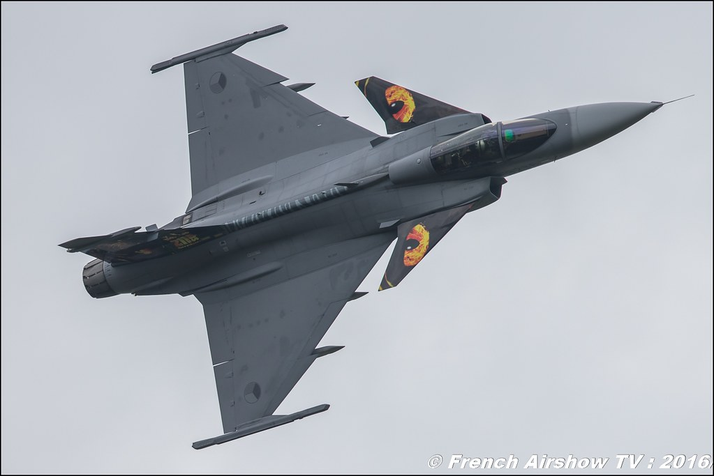 Czech Air Force JAS 39 Gripen Solo Display , Czech Air Force , tiger meet ,Belgian Air Force Days 2016 , BAF DAYS 2016 , Belgian Defence , Florennes Air Base , Canon lens , airshow 2016