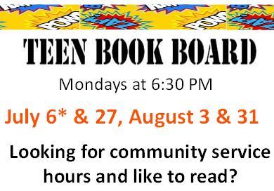 teen book board summer 2015