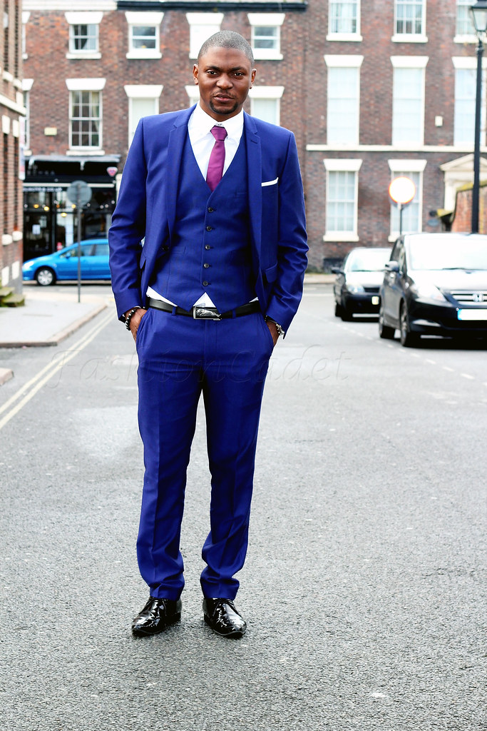 how-to-style-a-mens--three-piece-blue-suit,men's style, men's fashion, suits, men's suit, three piece blue suit