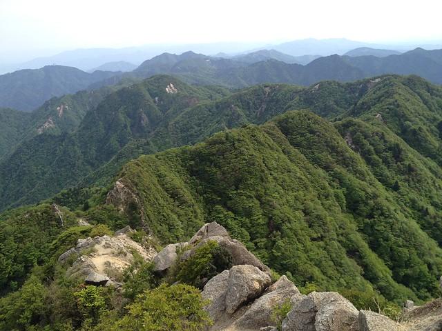 鎌ヶ岳 山頂から鎌尾根~宮腰山