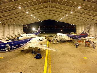 LAN Base de Mantto LIM con A320 (LAN)