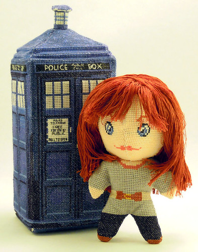 Doctor Who 3D cross stitch patterns by Robins Design - Donna Noble