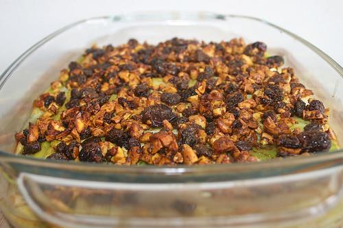42 - Raisin leeks with cashew nuts & cranbeeries - Finished baking / Rosinenlauch mit Cashewnüssen & Cranberries - Fertig gebacken - CloseUp