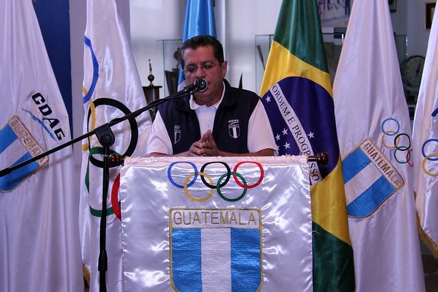 Juramentación Óscar Raxón, atleta paralímpico rumbo a Rio 2016