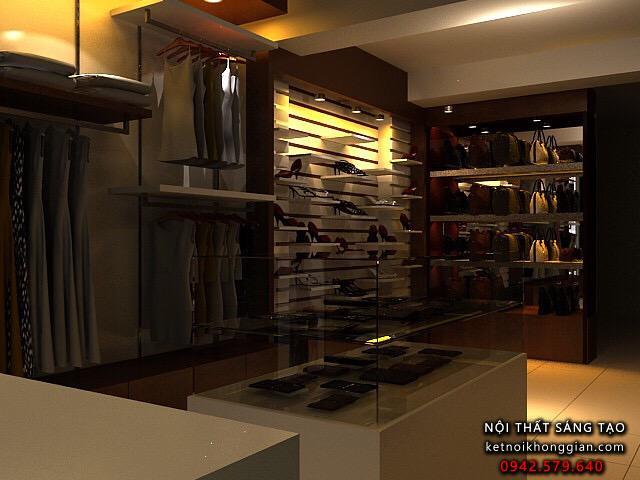 thiết kế shop thời trang công sở sang trọng