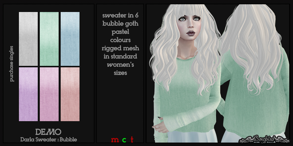 ~SongBird~ Darla Sweater : Bubble