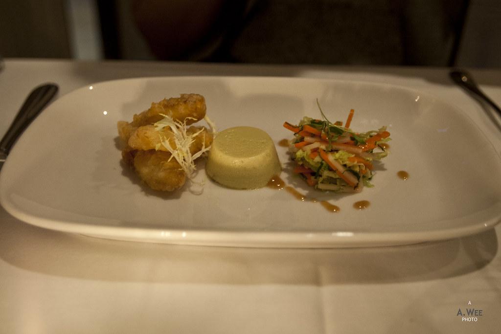 Basil Ginger Crab Flan