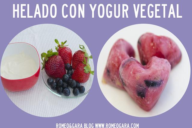 Helados para perros con yogur vegetal