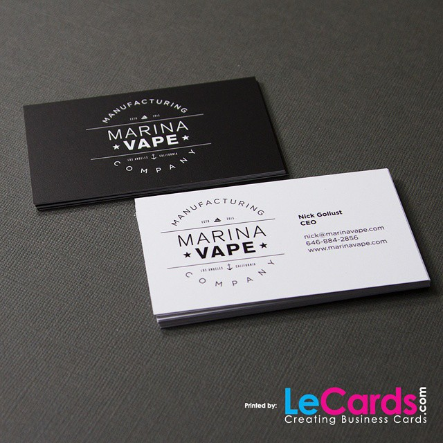 Black and white business cards for marina vape let us d flickr let us design your business card reheart Image collections
