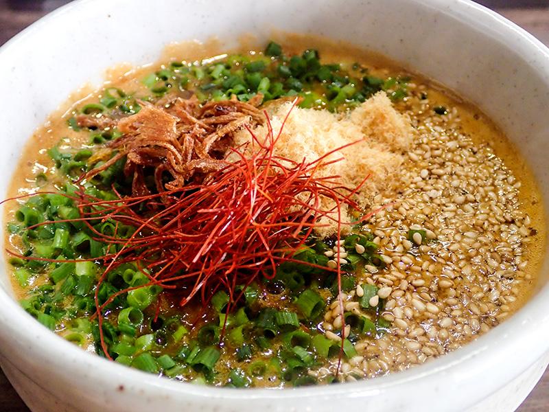 辛い醤油つけ麺