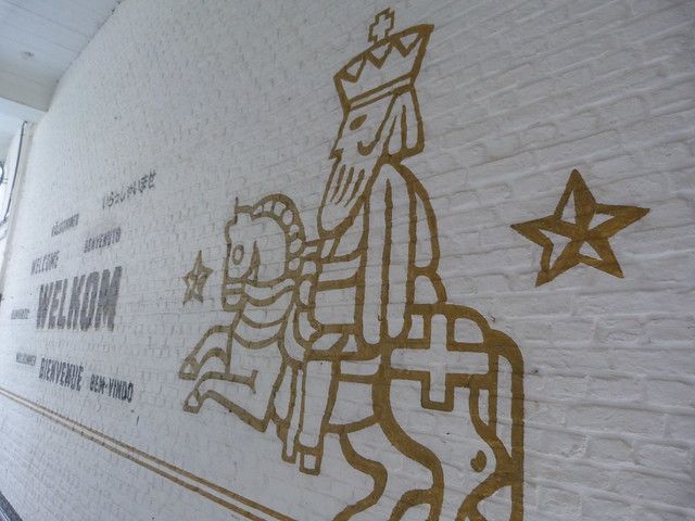 Cervecería Het Anker en Malinas (símbolo de la Gouden Carolus)