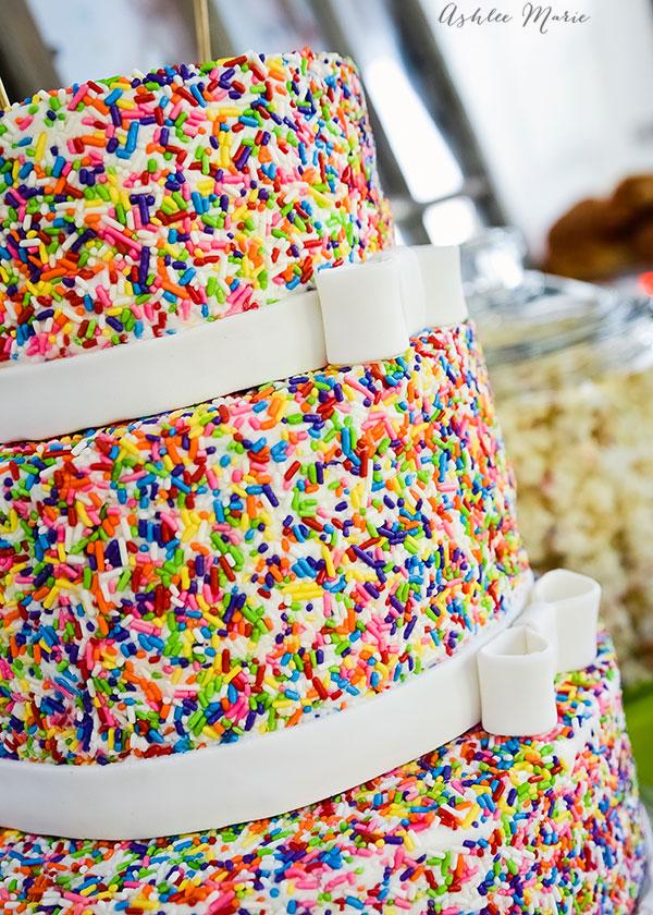 Baby Boy's Cake Mix & Sprinkles Birthday Cake | Ashlee Marie