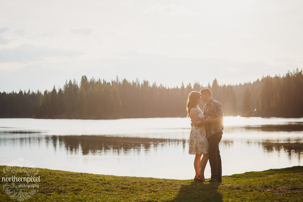 Lake Engagement Session - Prince George BC Wedding