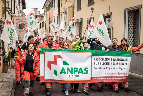 Il corteo di Anpas Liguria