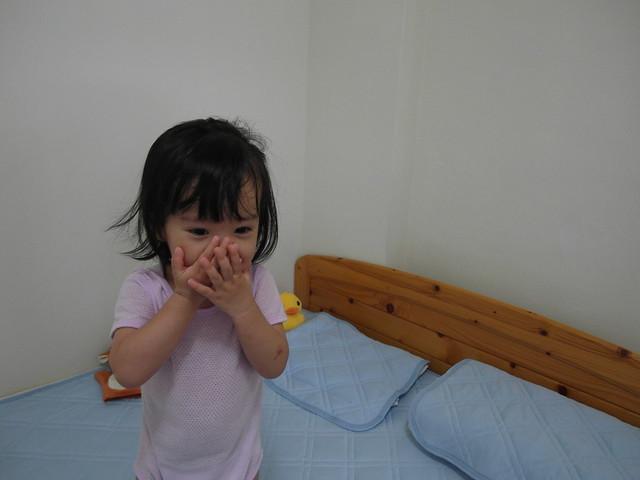 正在學小獅子打哈欠的小麋鹿@N Cool接觸涼感系列寢具