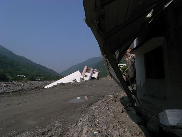 八八風災後的嘉蘭村。圖片來源:台東影像行腳。(CC BY-NC 2.0)
