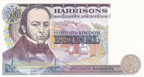 Isambard Kingdom Brunel specimen banknote2