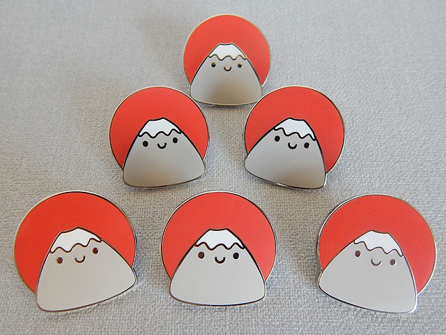 Mt Fuji enamel pins