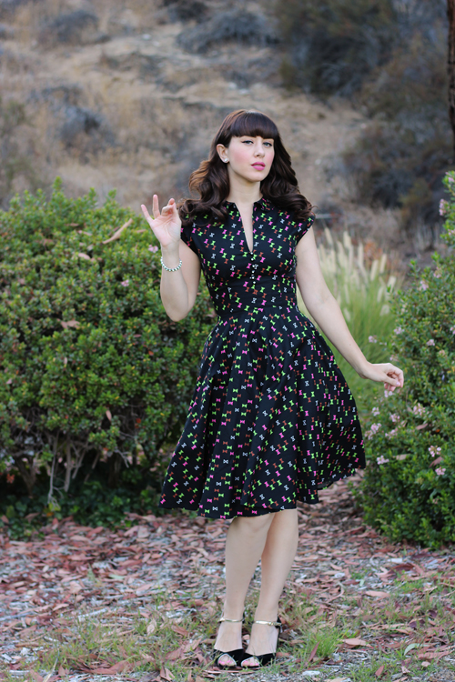 Trashy Diva Hopscotch Dress in Hourglass Print