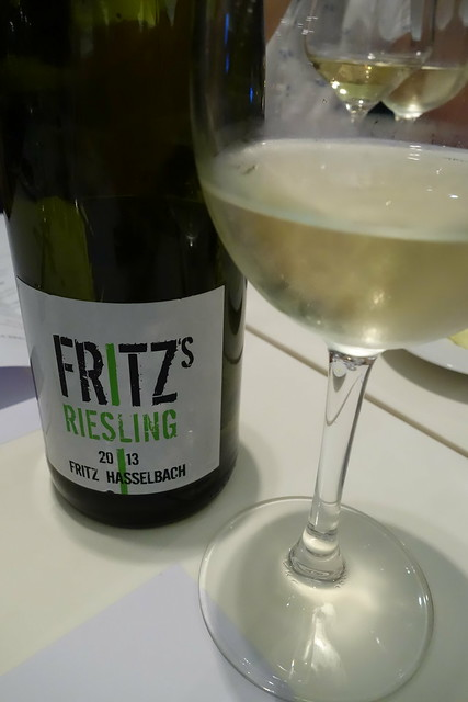 Fritz's Riesling 2013 at Restaurant Ember