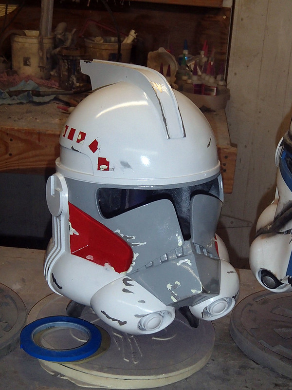 ARC Trooper Hammer Helmet Chipped Side