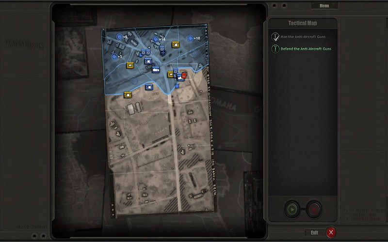 Campaign 2 Mission 1 - same commando paratrooper visible on briefing map