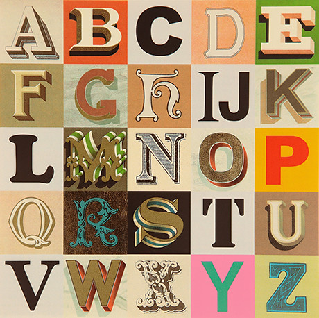 Peter Blake Appropriated Alphabet no.7