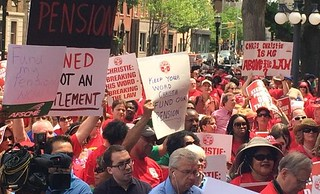 #FundNJPension rally Trenton Statehouse May 12, 2015