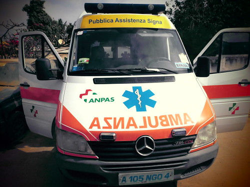 The donated Ambualnce