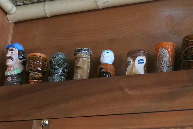Lost Lake tiki mug shelf