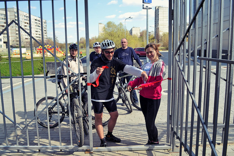 Opening of the bicycle parking