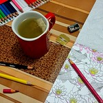 Domingo. #coloringbook #coloredpencils #inspirationjapon #collectif #teatime #tea #twinings #maped #fabercastell