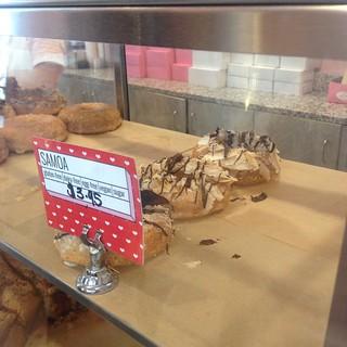 Samoa vegan donut at Babycakes in Orlando