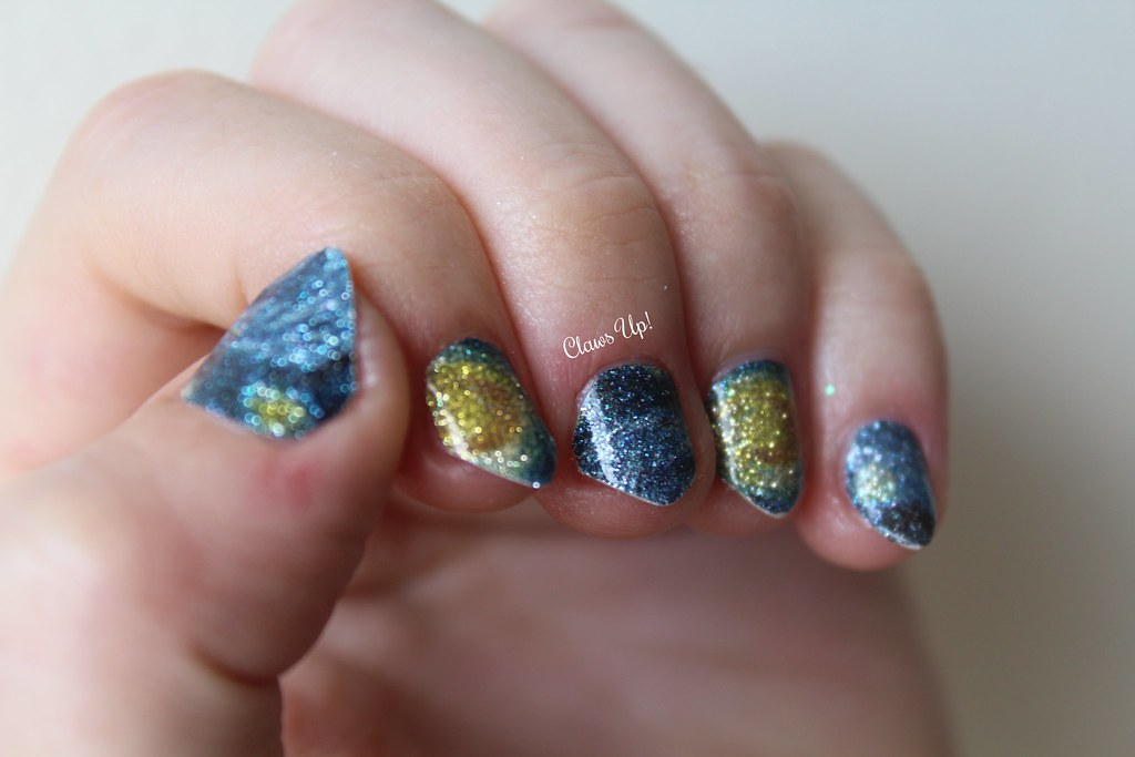Born Pretty Store Starry Night full nail art stickers. Coupon code JACG10