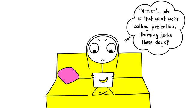 Woman on a yellow couch looking at a tablet.