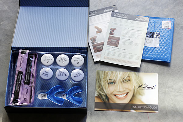 smilebrilliant.com teeth whitening custom trays kit