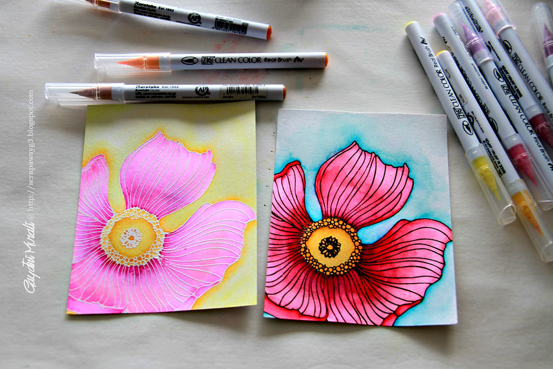 watercoloured floral