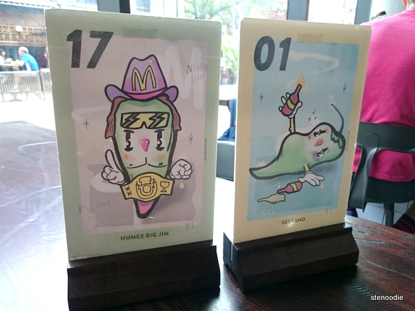 Wilbur Mexicana table signs