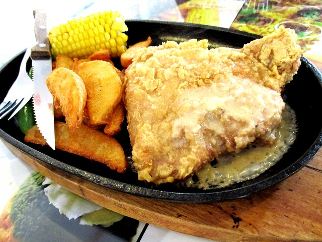 Noodle House sizzling chicken chop