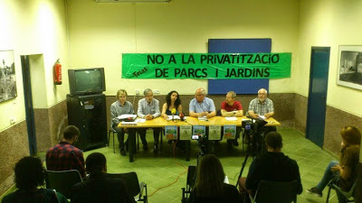 roda premsa comitè parcs i jardins Treballadores de Parcs i Jardins denuncien la utilització d'un herbicida tòxic produït per Monsanto a Barcelona