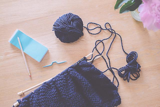 gilet tricoté philémon modèle par une poule à petits pas