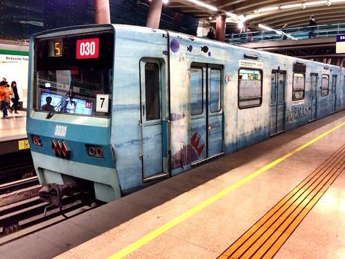 Metro de Santiago NS74 - Veinte poemas de amor y una canción desesperada (Pablo Neruda)
