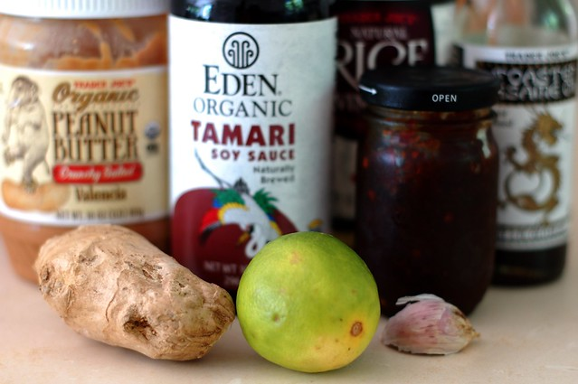 Ingredients for the peanut sauce by Eve Fox, the Garden of Eating, copyright 2015
