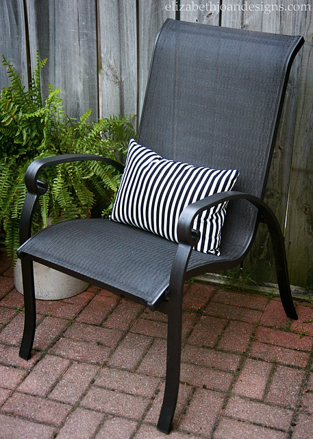 Striped Pillow Chair Fern