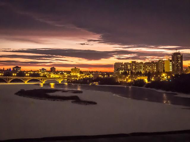 Saskatoon winter night