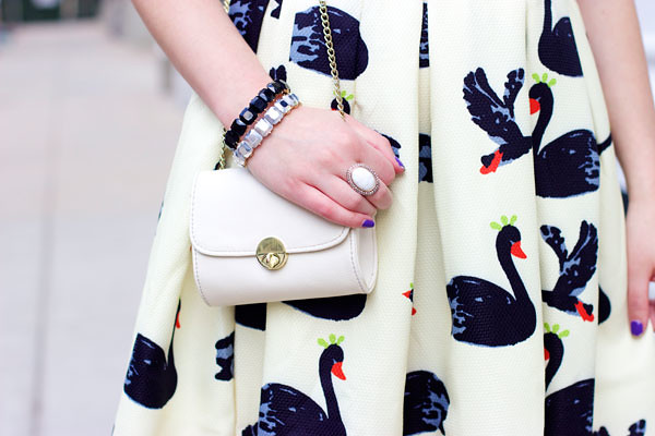 white evening purse